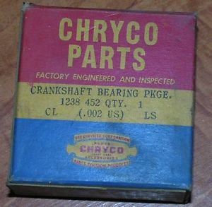 high temperature NOS Mopar 1238452 Crankshaft Main Bearing .002 US Chrysler 37-54 Dodge Desoto PL