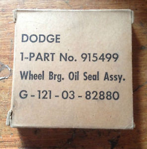 high temperature M37 M43 WC Dodge Power Wagon Front and Rear Wheel Bearing Seal G741 G502 G505