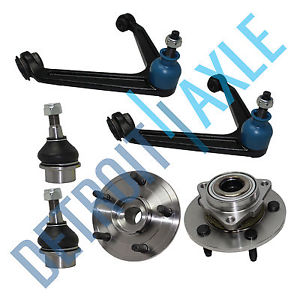 high temperature 6 pc Set  2 Wheel Hub Bearing w/ ABS 2 Upper Control Arm 2 Lower Ball Joint