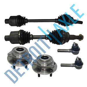 high temperature Front Left and Right CV Axle Shaft No ABS + New 2 Tie Rod +2 Wheel Hub Bearing