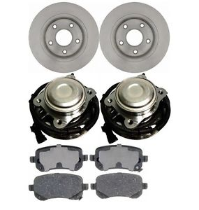 high temperature 08-2011 Caravan/Town&Country  BOTH LH & RH REAR HUB BEARING BRAKE PADS & ROTORS