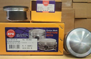 high temperature Dodge 5.7L 345 Hemi engine kit pistons rings 2003 04 05 06 truck bearings gasket