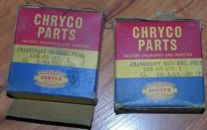 high temperature NOS Mopar 1238450 Crankshaft Main Bearing .001 US Chrysler 37-54 Dodge Desoto PL