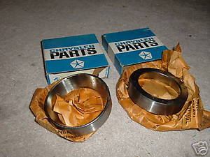 high temperature 1959 60 61 62 63 64 65 66 67 68 dodge truck rear axle bearing races 2 nos mopar