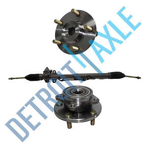 high temperature 3 pc Set: Steering Rack & Pinion + 2 Wheel Hub Bearing Assembly – Chrysler Dodge