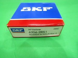high temperature 6206-2RS SKF Ball Bearing 6206 2RS1 30x62x16 mm