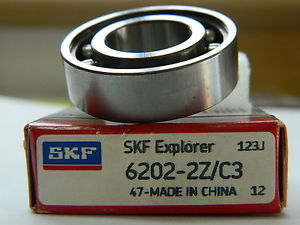 high temperature SKF 6202-2Z/C3 Deep Grove Ball Bearings. Single row.