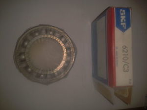 high temperature 6210.C3 50mm id x 90mm x 20mm wide OPEN TYPE Deep Groove Ball Bearing,SKF FRANCE