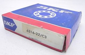 high temperature SKF Shielded Ball Bearing 6316-2Z/C3