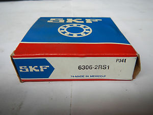 high temperature SKF Deep groove ball bearings type: 6306-2RS1 / 30x72x19  / ORIGINAL PACKAGE