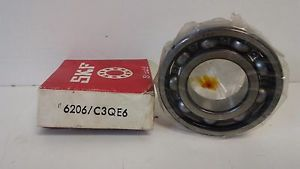 high temperature  OLD STOCK! SKF BALL BEARING 6206/C3QE6