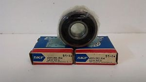 high temperature LOT OF (2)  OLD STOCK! SKF BALL BEARINGS 6201-2RS-JEM