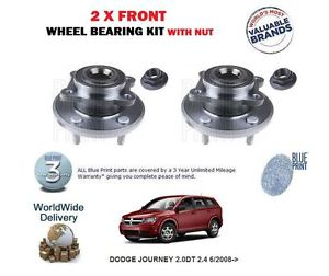 high temperature FOR DODGE JOURNEY 2.0DT 2.4 6/2008->  2 X FRONT WHEEL BEARING KIT WITH NUT