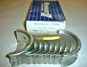 high temperature MS1945AL .25MM MICHIGAN 77 Main Bearings 1979-89 2.0L 2.6L CHRYSLER  DODGE MITS