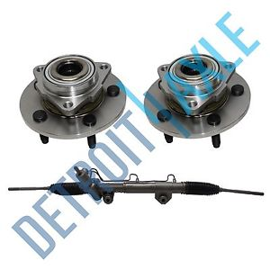 high temperature Steering Rack and Pinion + 2 Wheel Hub Bearing Assembly NO ABS 2WD Dodge