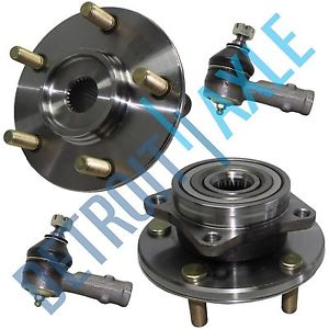 high temperature 4pc Set: 2 Front Wheel Hub & Bearing Assembly + 2 Outer Tie Rod – Chrysler Dodge