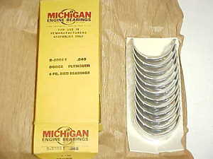 high temperature 1934 35 36 37 38 39 40 41 42 46-59 Plymouth Dodge ROD BEARINGS 040 Undersize 6