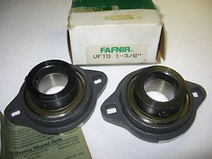 "high temperature Lot of 2) Fafnir VFTD 1-3/8"" 2-Bolt Flange Bearing Units VFTD1-3/8 VFTD13/8"