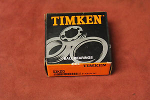 "high temperature Timken Fafnir S3KDD Ball Bearing Double Shielded 3/8"" ID x 7/8"" OD New"