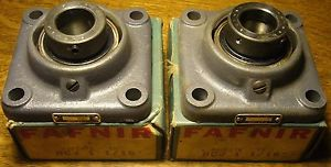 "high temperature Lot of Two Torrington Fafnir RCJ 1-1/16"" 4-Bolt Flanged Bearings with Collars"