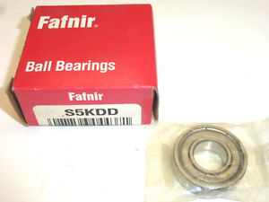 high temperature FAFNIR SINGLE ROW SHIELDED DEEP GROOVE RADIAL BALL BEARING, S5KDD