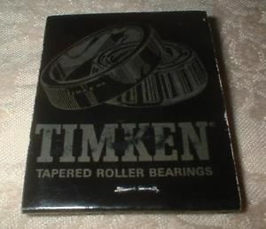 high temperature VINTAGE TIMKEN MATCHBOOK BALL BEARING SPECIALTY CO ROLLER BEARINGS CALIFORNIA EC