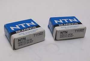 high temperature Lot of 2 NTN 608ZZC3/EM L627 Radial Ball Bearing