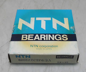 high temperature New OLD STOCK NTN Ball Bearing, 6208 ZZC2P6/2A, 99-01, NIB, Warranty