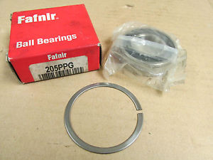 high temperature NIB FAFNIR 205PPG BEARING RUBBER SEALED w/ SNAP RING 205 PPG 205PP G 25x52x15mm