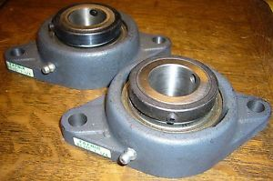 """high temperature Lot of Two Torrington Fafnir RCJCT 1-1/4"""" 2-Bolt Flanged Bearings with Collars"""