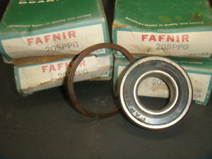 high temperature , LOT OF 4, FAFNIR, 205PPG, BALL BEARING SINGLE DEEP GROOVE SELED, NIB