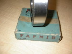 high temperature 55mm FAFNIR 311W OPEN SINGLE ROW  MAX. CAP.BALL BEARING