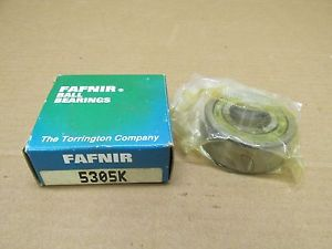 "high temperature NIB FAFNIR 5305K BEARING SHIELDED BOTH SIDES 5305 K 25mm ID x 62mm OD x 1"" W"