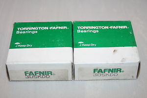 high temperature (lot of 2) Fafnir 305KDD Shielded Deep Groove Bearings 305-KDD (6305 2ZJEM)