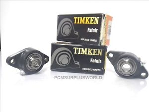 high temperature TIMKEN FAFNIR YCJT 3/4 FLANGE BEARING 2 BOLTS ** SET OF 2X!