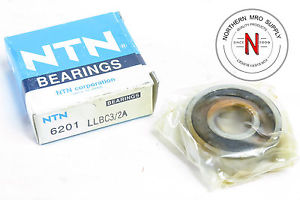 high temperature NTN 6201LLBC3/2A DEEP GROOVE BALL BEARING, 12mm x 32mm x 10mm, FIT C3, DBL SEAL
