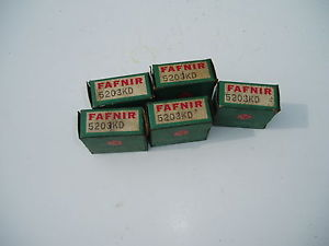 high temperature 1 NOS Fafnir 5203KD sealed double row ball bearing size 17x40x18mm USA