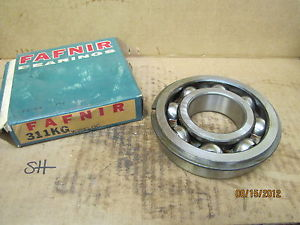 high temperature Fafnir Single Groove Radial Ball Bearing with Snap Ring 311KG New