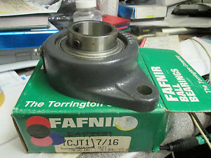 "high temperature Fafnir 2 bolt flange bearing YCJT 1 7/16"" set screw style"