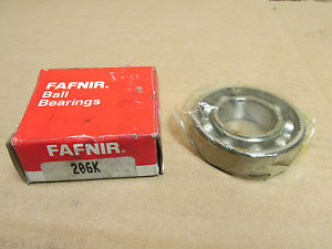 high temperature NIB FAFNIR 206 K BEARING NO SHIELDS 206K 30x62x16 mm
