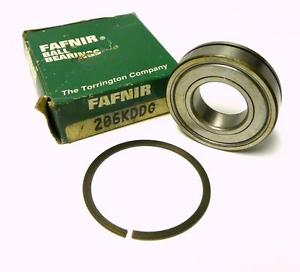 high temperature  FAFNIR 206KDDG SHIELDED BALL BEARING 30 MM X 62 MM X 16 MM WITH SNAP RING