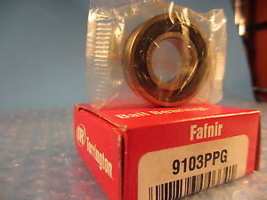 high temperature Fafnir 9103PPG 9103 PPG, Single Row Radial Bearing with snap ring