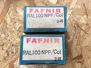 high temperature 2-FAFNIR-Bearings, Cat#RAL100NPP/COL. 2-w ,comes w/30day warranty, free shipping