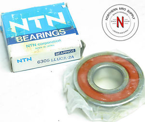 high temperature NTN 6305-LLUC3/2A DEEP GROOVE BALL BEARING, DOUBLE SEAL, 25mm x 62mm x 17mm