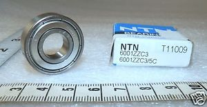 high temperature 12 mm Bore x 28 mm O.D.Radial Ball Bearing   NTN 6001ZZC3/L627 1L011   (Loc5)