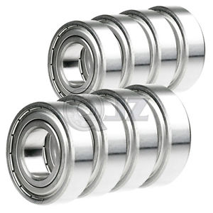 high temperature 8x 6201-ZZ Ball Bearing 12mm x 32mm x 10mm Double Shielded Rubber Seal 201KDD