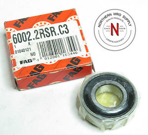 high temperature FAG 6002-2RSR-C3 DEEP GROOVE BALL BEARING, 15mm x 32mm x 9mm, FIT C3, DBL SEAL