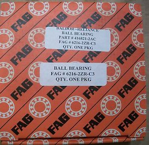 high temperature 2 New IN BOX FAG 6216-2ZR-C3 BALDOR/ RELIANCE 416821-2AC USA MADE BALL BEARING