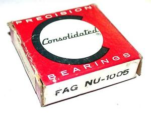 high temperature  CONSOLIDATED BALL BEARING FAG NU-1005 25MM X 47MM X 12MM (3 AVAILABLE)