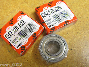 high temperature FAG 6202.2ZR.J22R Ball Bearings New (Lot of 2)